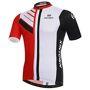 cheap Cycling Jerseys-XINTOWN Men's Short Sleeve Cycling Jersey Elastane Lycra Patchwork Bike Jersey Top Mountain Bike MTB Road Bike Cycling Breathable Quick Dry Ultraviolet Resistant Sports Clothing Apparel