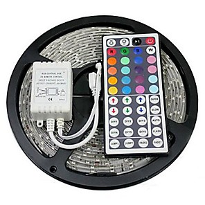 cheap Projectors-ZDM 5M LED Strip Lights RGB Tiktok Lights Flexible 300 x 5050 10mm IR 44Key Remote Control Linkable Self-adhesive Color-Changing