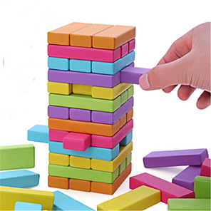 cheap Building Blocks-Board Game Stacking Tumbling Tower Jenga Wood Professional Fun Balance Kid's Adults' Toys Gifts