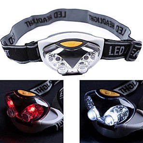 cheap Flashlights & Camping Lanterns-Headlamps Headlight Waterproof Mini 1200 lm LED 6 Emitters 3 Mode 4 pcs white LED Lights 2 pcs red LED Lights Waterproof Mini Portable Small Camping / Hiking / Caving Cycling / Bike Hunting