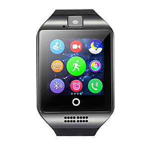 cheap Smartwatches-Q18 Men Smartwatch Android Bluetooth USB Touch Screen Calories Burned Hands-Free Calls Camera Distance Tracking Timer Call Reminder Sleep Tracker Sedentary Reminder Find My Device / Alarm Clock