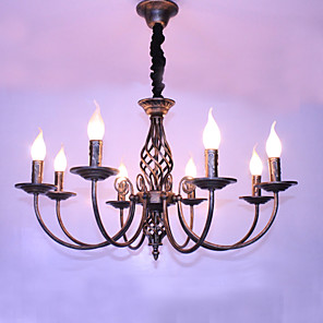 cheap Candle-Style Design-8-Light 72CM Designers / Candle Style Chandelier Metal Others Retro 110-120V / 220-240V