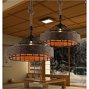 cheap Chandeliers-1-Light 43CM Designers Chandelier Metal Fabric Others Country 220-240V