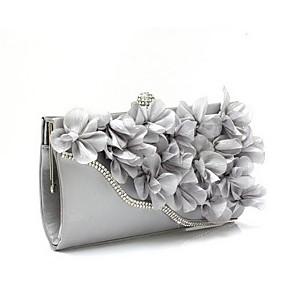 cheap Clutches & Evening Bags-Women's Flower Chiffon Evening Bag Black / Fuchsia / Pink