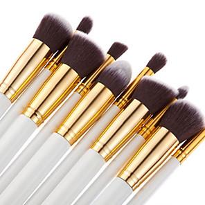 cheap Makeup Brush Sets-Professional Makeup Brushes Makeup Brush Set 10pcs Portable Travel Eco-friendly Professional Full Coverage Wood Makeup Brushes for Blush Brush Foundation Brush Eyeshadow Brush Concealer Brush Makeup