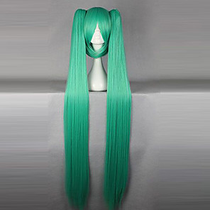 cheap Videogame Costumes-Vocaloid Hatsune Miku Cosplay Wigs Women's 50 inch Heat Resistant Fiber Anime Wig