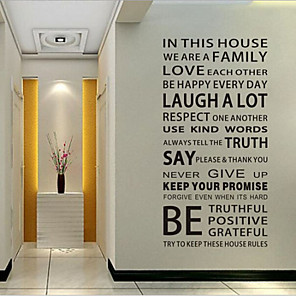 cheap Wall Stickers-Words & Quotes Wall Stickers Words & Quotes Wall Stickers Decorative Wall Stickers, Vinyl Home Decoration Wall Decal Wall Decoration / Removable