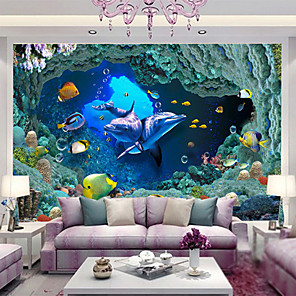 cheap Wall Murals-Animal Print 3D Home Decoration Contemporary Wall Covering, Non-woven Paper Material Adhesive required Mural, Room Wallcovering