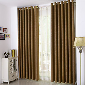 cheap Sheer Curtains-Ready Made Room Darkening Curtains Drapes Two Panels For Bedroom
