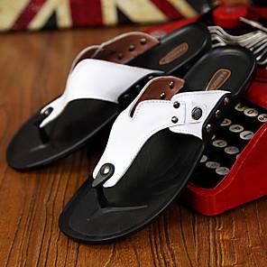 Hombre Zapatos Tejido Verano Confort Zapatillas y flip-flops Rojo / Verde / Color Camello XcmkqE5aWF