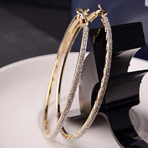 cheap Eyeshadows-Women's Hoop Earrings Machete Ladies Fashion Elegant Bling Bling Italian everyday Earrings Jewelry Golden / Silver For Wedding Party Daily Casual