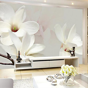 cheap Wallpaper-Floral Art Deco 3D Home Decoration Contemporary Wall Covering, Canvas Material Adhesive required Mural, Room Wallcovering