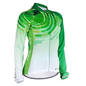 povoljno Biciklističke majice-Nuckily Žene Dugih rukava Biciklistička majica Zima Runo Poliester Zelen Dungi Bicikl Biciklistička majica Majice Brdski biciklizam biciklom na cesti Vjetronepropusnost Prozračnost Anatomski dizajn
