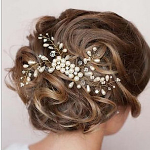 cheap Hair Jewelry-Women's Hair Combs For Wedding Party Pearl White