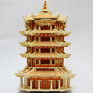 cheap 3D Puzzles-Chinese Architecture 3D Puzzle Wooden Puzzle Wooden Model Wood Kid's Adults' Toy Gift