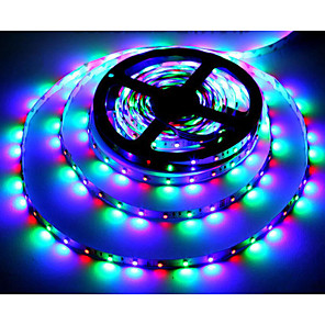 cheap LED Strip Lights-ZDM® 5m RGB Strip Lights 300 LEDs 2835 SMD 2835 SMD 1pc RGB Cuttable Party Decorative 12 V / Self-adhesive
