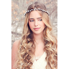 cheap Hair Jewelry-Women's Headbands Fascinators forehead jewelry For Wedding Party Daily Casual Fabric White