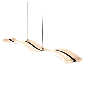 cheap Island Lights-1-Light Lightinthebox 11.8 cm LED Pendant Light Acrylic Linear Chrome Modern Contemporary 90-240V