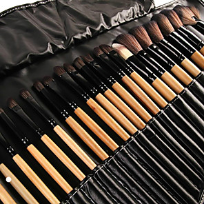 cheap Makeup Brush Sets-Professional Makeup Brushes Makeup Brush Set 32pcs Eco-friendly Full Coverage Artificial Fibre Brush Wooden Makeup Brushes for / #