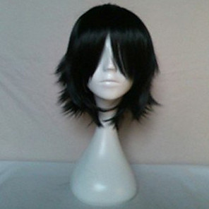 cheap Costume Wigs-Cosplay Costume Wig Synthetic Wig Cosplay Wig Straight Straight With Bangs Wig Short Black Synthetic Hair Women's Black hairjoy