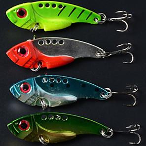 cheap Fishing Lures & Flies-4 pcs Fishing Lures Hard Bait Metal Bait Sinking Bass Trout Pike Bait Casting Metal