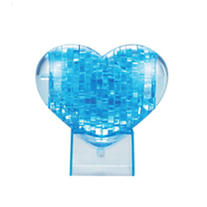 cheap Building Blocks-Heart 3D Puzzle Wooden Puzzle Crystal Puzzle Wooden Model ABS Kid's Adults' Toy Gift