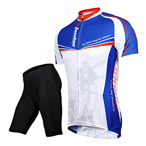 cheap Cycling Jersey & Shorts / Pants Sets-TASDAN Men's Short Sleeve Cycling Jersey with Shorts Black Bike Shorts Jersey Clothing Suit Breathable 3D Pad Quick Dry Reflective Strips Back Pocket Sports Solid Color Mountain Bike MTB Road Bike