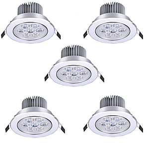 cheap LED Recessed Lights-5pcs 7 W LED Spotlight LED Ceilling Light Recessed Downlight 7 LED Beads High Power LED Decorative Warm White Cold White 85-265 V / RoHS / 90