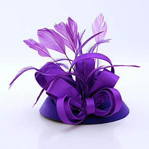 cheap Hair Jewelry-Flannelette / Feather / Satin Fascinators with 1 Wedding / Special Occasion / Casual Headpiece