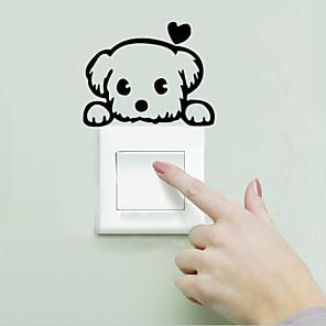 povoljno Zidne naljepnice-Pejzaž / Životinje Zid Naljepnice Naljepnice za zidne zidove Light Switch Naljepnice, Vinil Početna Dekoracija Zid preslikača Zid Ukras / Može se prati / Odstranjivo