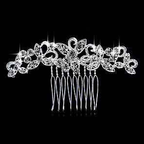 cheap Hair Jewelry-Women's Hair Combs For Wedding Party Wedding Party Crystal Imitation Diamond Silver Silver