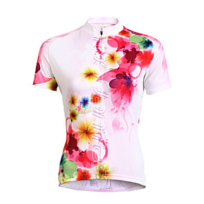 cheap Cycling Jerseys-TASDAN Women's Short Sleeve Cycling Jersey Floral Botanical Plus Size Bike Jersey Top Clothing Suit Mountain Bike MTB Road Bike Cycling Breathable Quick Dry Ultraviolet Resistant Sports Clothing