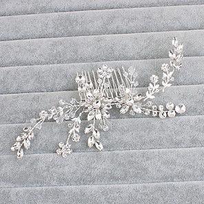 cheap Wedding Slips-Crystal Hair Combs with 1 Wedding / Special Occasion / Casual Headpiece