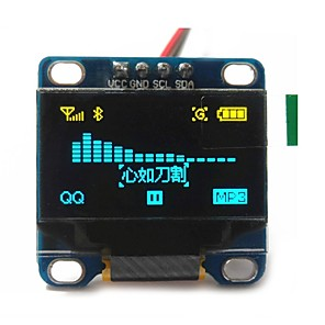 "cheap Motherboards-0.96"" Inch Yellow and Blue I2c IIC Serial 128x64 Oled LCD Oled LED Module for Arduino Display 51 Msp420 Stim32 SCR"