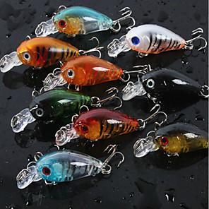 cheap Fishing Lures & Flies-8 pcs Fishing Lures Crank Sinking Bass Trout Pike Bait Casting Freshwater Fishing Lure Fishing Plastic