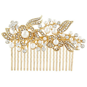 cheap Hair Jewelry-Women's Hair Combs For Wedding Party Crystal Imitation Pearl Golden Silver