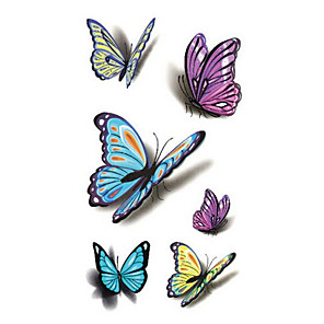 cheap Tattoo Stickers-1 pcs Temporary Tattoos Waterproof Face / Hand / Shoulder PVC(PolyVinyl Chloride) Tattoo Stickers