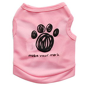 cheap Dog Clothes-Cat Dog Shirt / T-Shirt Dog Clothes Black Blue Pink Costume Terylene Floral Botanical Fashion XS S M L