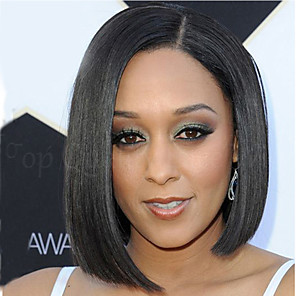 cheap Synthetic Trendy Wigs-Synthetic Wig Straight Kardashian Straight Wig Short Black Synthetic Hair Women's Black