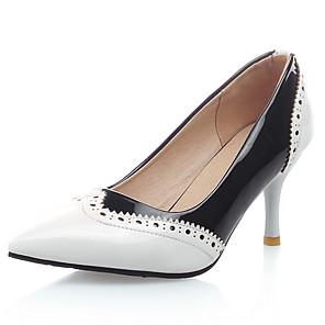 Mujer Zapatos Cuero Patentado / Semicuero Primavera / Verano Tacón Stiletto Amarillo / Rojo / Almendra / Fiesta y Noche / Vestido / Fiesta y Noche g21DwCcNB1