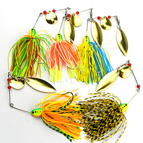 cheap Fishing Lures & Flies-5 pcs Fishing Lures Spoons Metal Bait Sinking Bass Trout Pike Bait Casting Plastic Metal