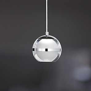 cheap Pendant Lights-1-Light UMEI™ 8cm(3.2 Inches) LED Pendant Light Metal Acrylic Globe Chrome Modern Contemporary 110-120V / 220-240V