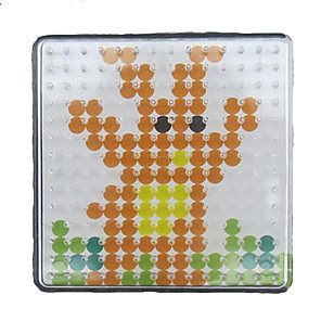 cheap Drawing Toys-1PCS Template Clear Pegboard 7.5*7.5cm Square for 5mm Hama Beads Perler Beads Fuse Beads