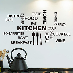 cheap Wall Stickers-Still Life / Shapes / Words & Quotes Wall Stickers Words & Quotes Wall Stickers Decorative Wall Stickers, PVC(PolyVinyl Chloride) Home Decoration Wall Decal Wall Decoration / Removable