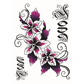 cheap Tattoo Stickers-fashion-large-temporary-tattoos-flowers-sexy-body-art-waterproof-tattoo-stickers-2pcs-size-5-71-by-8-27