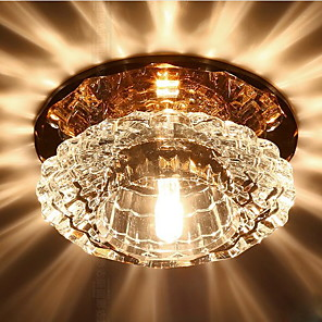 cheap Dimmable Ceiling Lights-1-Light 10cm Crystal / LED Flush Mount Lights Crystal Others Modern Contemporary 220-240V