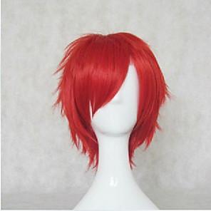 ราคาถูก วิกผมคอสตูม-วิกส์คอร์สเพลย์ วิกผมสังเคราะห์ วิกคอสตูม ความหงิก ความหงิก ผมปลอม Short แดง ฟ้า สังเคราะห์ สำหรับผู้หญิง แดง ฟ้า hairjoy
