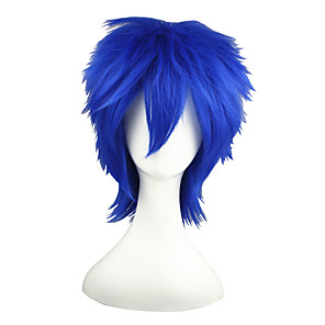 cheap Synthetic Trendy Wigs-Synthetic Wig Straight Straight Wig Blue Synthetic Hair Blue
