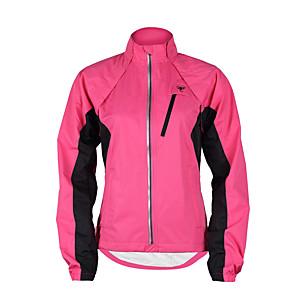 cheap Cycling Jerseys-TASDAN Women's Cycling Jacket Winter Polyester Bike Jacket Windbreaker Top Waterproof Windproof Breathable Sports Patchwork Black / Purple / Yellow Mountain Bike MTB Road Bike Cycling Clothing Apparel
