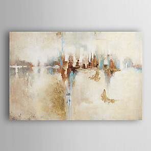 cheap Framed Arts-Oil Painting Hand Painted - Abstract Modern Stretched Canvas
